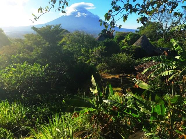 Awesome views of the Volcanoes on Isla de Ometepe Nicaragua