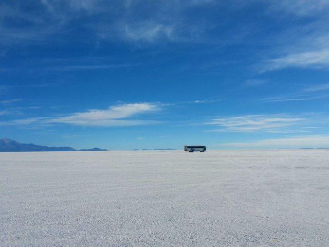 Uyuni Salt Flats: El Salar de Uyuni Tour in Bolivia - A Random Bus Crossing the Salt Desert