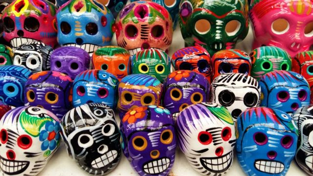 Traditional Mexican Painted Skulls - The Best things to do in Mexico City