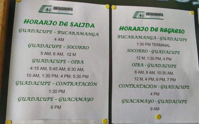 Bus times from Oiba to Guadalupe - Transport in the 4x4 from Oiba to Guadalupe