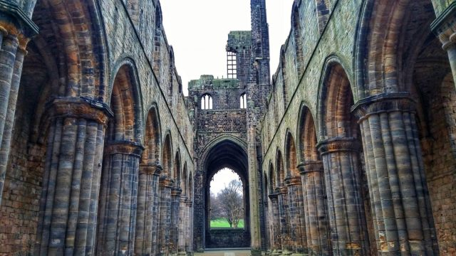 Inside Kirkstall Abbey Leeds - things to do in Leeds England Yorkshire