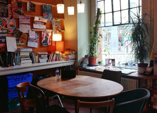 The Dining or Work Area at the Art Hostel Leeds - Where to Stay in Leeds
