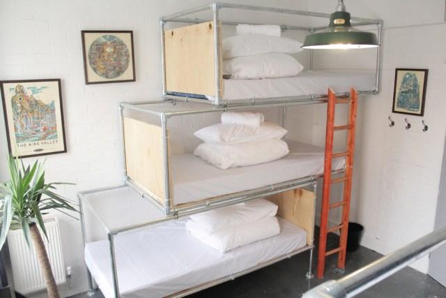 Fred Dibnah Suite, my Dorm Room at the Art Hostel Leeds. Photo Credit: Art Hostel Leeds