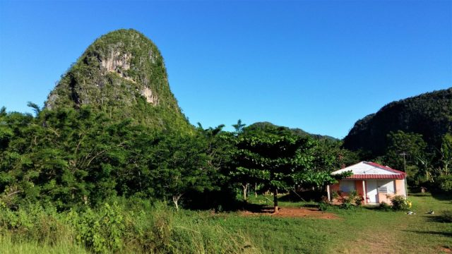 A house in Vinales Cuba next to a Mogote - what to do in Vinales Cuba