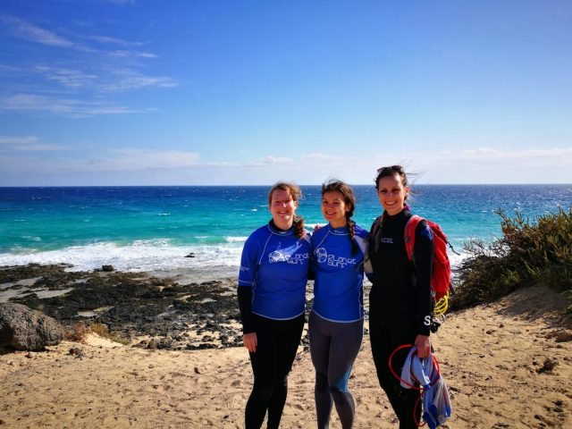 Me and my friends at Planet Surf Camp Fuerteventura