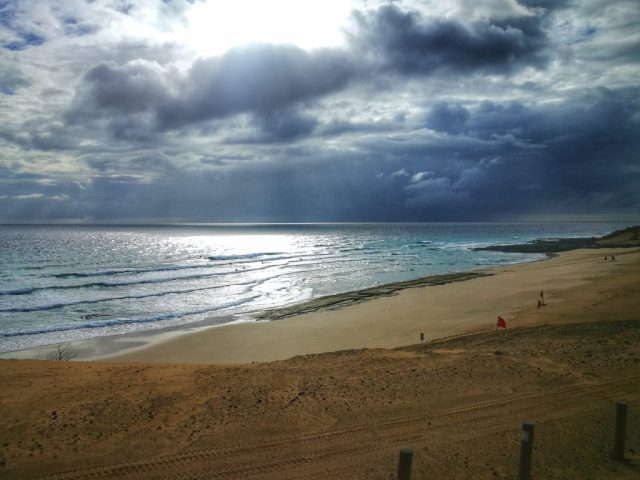 Cloudy Skies on the beach in Fuerteventura