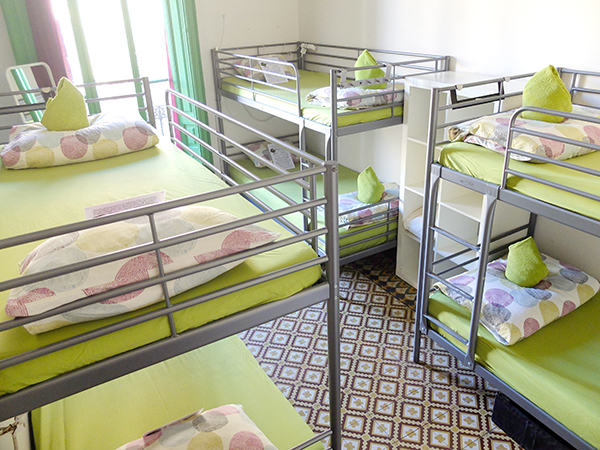 The 6 bed dorm in Fabrizzio's Petit - The Best hostel in Barcelona