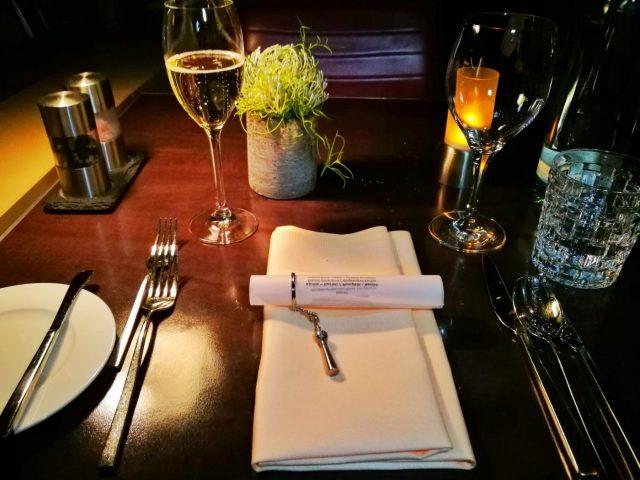 Dinner setting at the Berlin TV Tower Restaurant