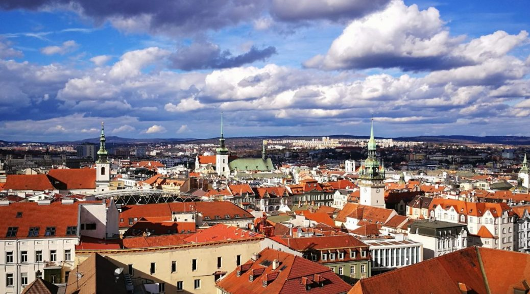 Brno Czech Republic - view from the Church Towers
