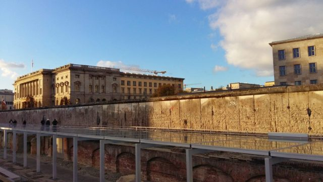 Visiting the Berlin Wall - A large section of the original wall next to the Topography of Terror Museum