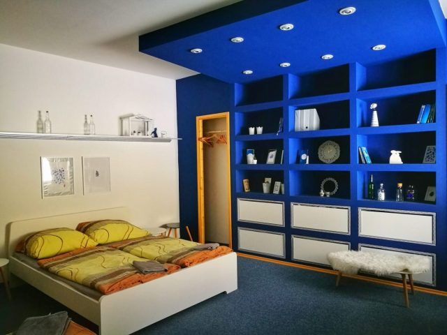 Each bedroom and apartment at Internesto is individually decorated - where to stay in Brno Czech Republic