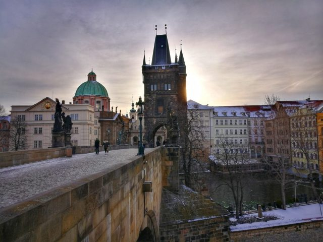 The sun rises over Charles Bridge - What to do in Prague in 2 Days - A Prague 2 Day Itinerary