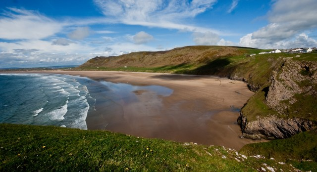 Rhossili Bay in Gower, South Wales - the Best Places to visit in the UK on a Budget