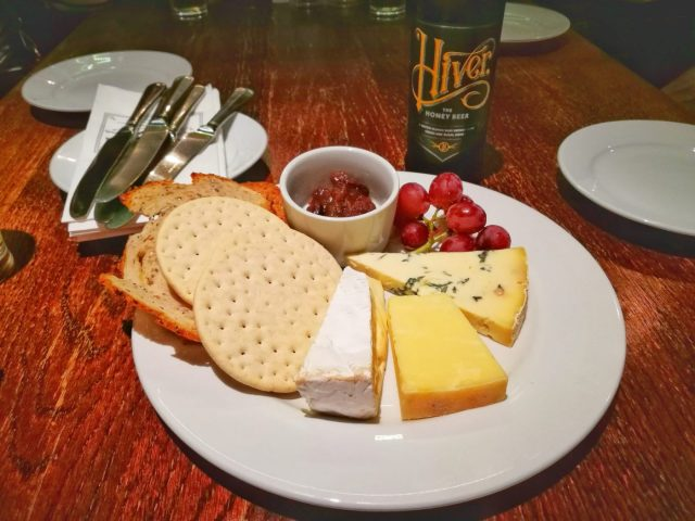 British Cheese Board and Cider on our Secret London Food Tour