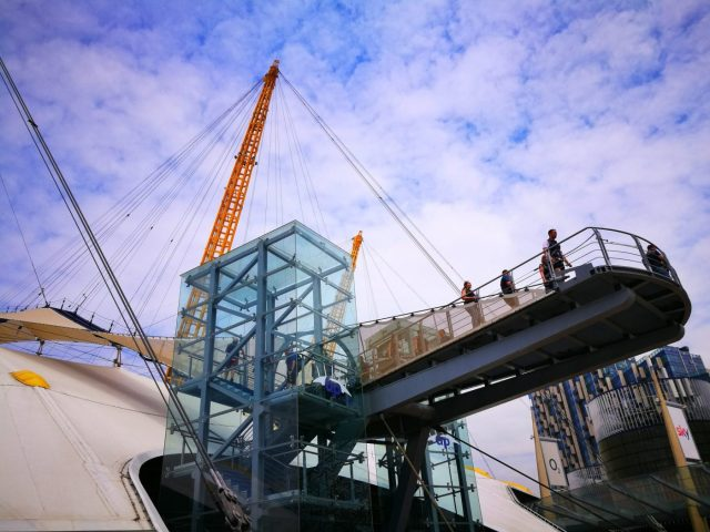 The Beginning of the Climb & Viewing Platform - Up at the O2