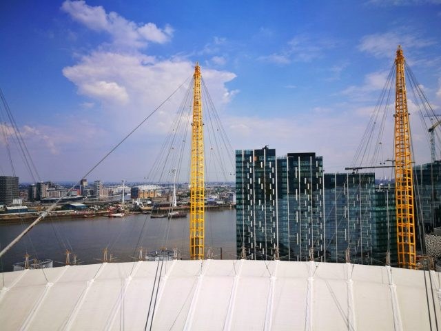 Fabulous View from the Top of the O2 - Climbing the O2 in London