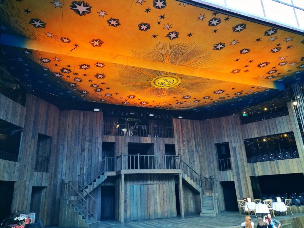 The stage in Shakespeare's Rose Theatre York