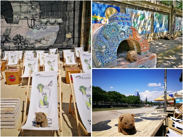 Where's Wagner Wombat - at the Danube Canal. Places to visit in Vienna in 2 Days