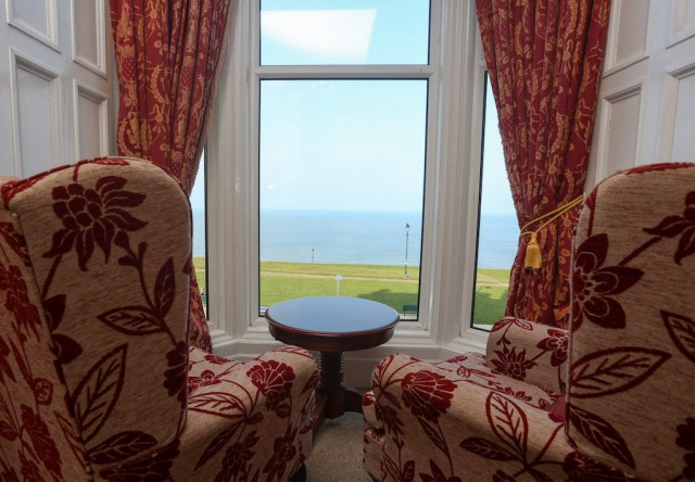 The Fabulous View from a room at the Riviera Guesthouse in Whitby