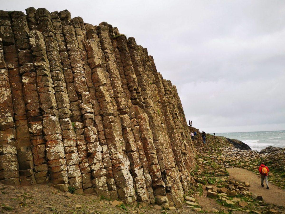 Basalt Rock Columns at the Giant's Causeway Northern Ireland