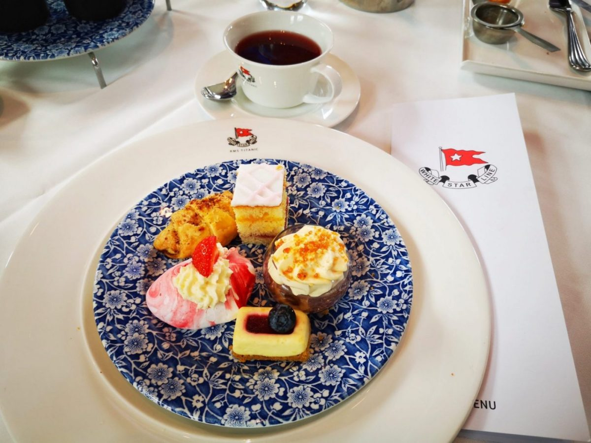 Cakes and Tea on the Titanic with White Star Line Menus and Crockery