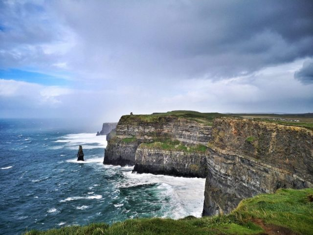 A Blustery Day on the Cliffs of Moher - Visiting the Cliffs of Moher from Galway