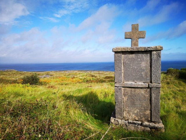 A Monument to those who left Inishmore and never returned to the Aran Islands - Visiting the Aran Islands from Galway