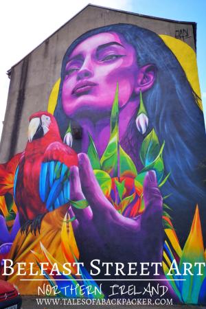 There is some amazing street art in Belfast, here is some of my favourite Belfast Street Art #Belfast #NorthernIreland #StreetArt #UnitedKingdom #grafitti