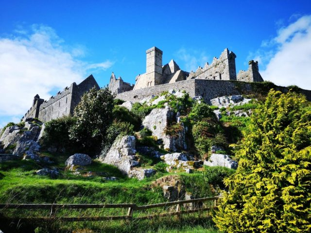 A photo stop at the Rock of Cashel - seat of the Kings of Munster in Ireland