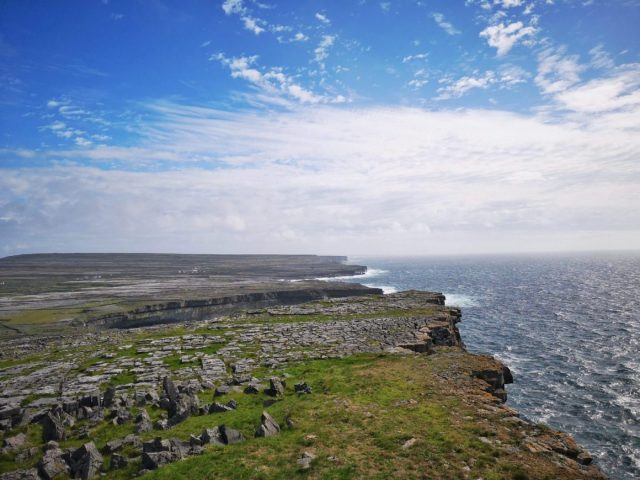 Incredible views of Inis Mor from Dun Aonghasa Fort - Visiting the Aran Islands from Galway