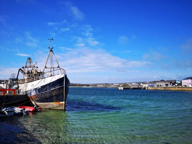 The Port at Inis Mor on the Aran Islands - Visiting the Aran Islands from Galway
