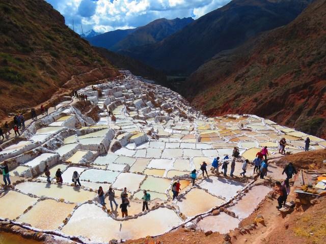 Maras Salt Ponds near Ollantaytambo Peru