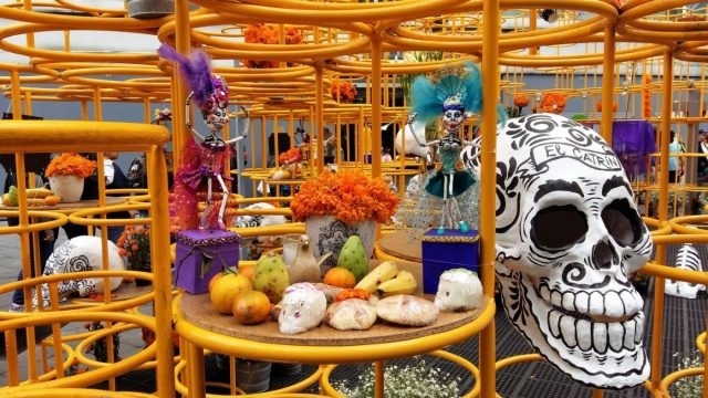Colourful Ofrendas are displayed for Day of the Dead - Mexico Backpackers Guide