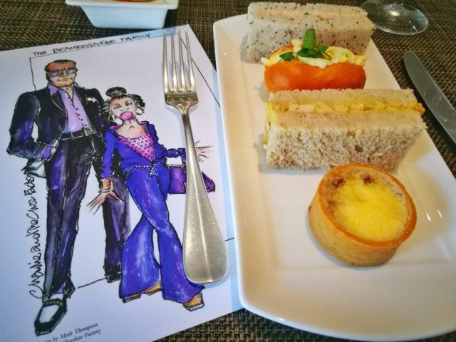 The Beauregarde Family Menu and Sandwiches at our Charlie and the Chocolate Factory Afternoon Tea in London