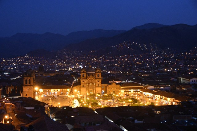 Cusco Cathedral at Night