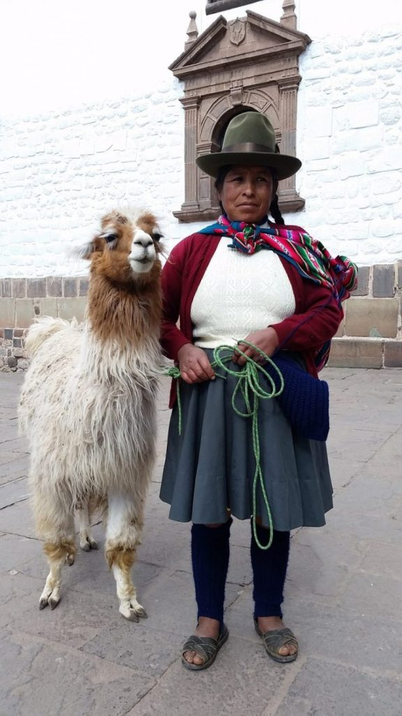 Llamas & Locals Pose for Photos in Cusco - What to do in Cusco Peru