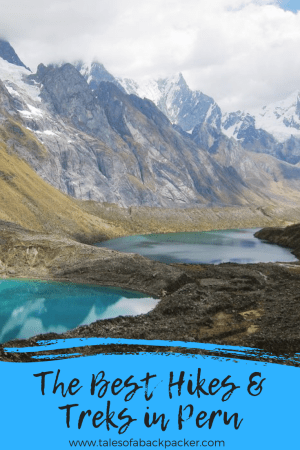 Peru is one of the best countries in the world for hiking and trekking. Hiking in Peru you will discover vast mountain ranges and deep canyons, stunning snow-capped mountains and turquoise lakes as well as the ruins of ancient civilisations. There aren't many countries in the world which can match the variety and beauty of trekking in Peru! I asked fellow travel bloggers to share their favourite hikes and multi-day treks in Peru to come up with this epic list of the best hikes in Peru. #Peru #SouthAmerica #HikesinPeru #Trekking #Hiking #Hikes #Treks
