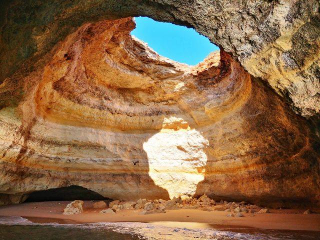 Beautiful Benagil Sea Cave Portugal