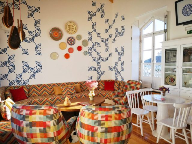 The Lounge at the Heaven Inn Hostel - Where to Stay in Evora