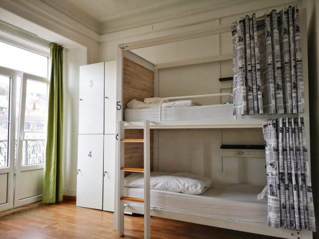 A Dorm Room at the Good Morning Hostel Lisbon