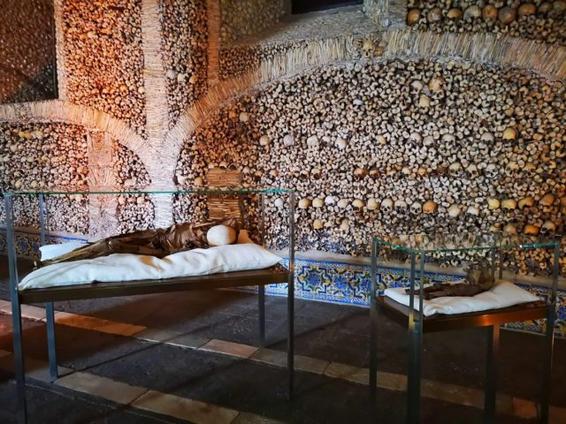 Remains laid to rest in the Chapel of Bones
