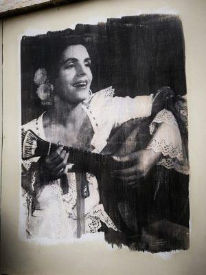 The Queen of Fado - Street art in Mouraria