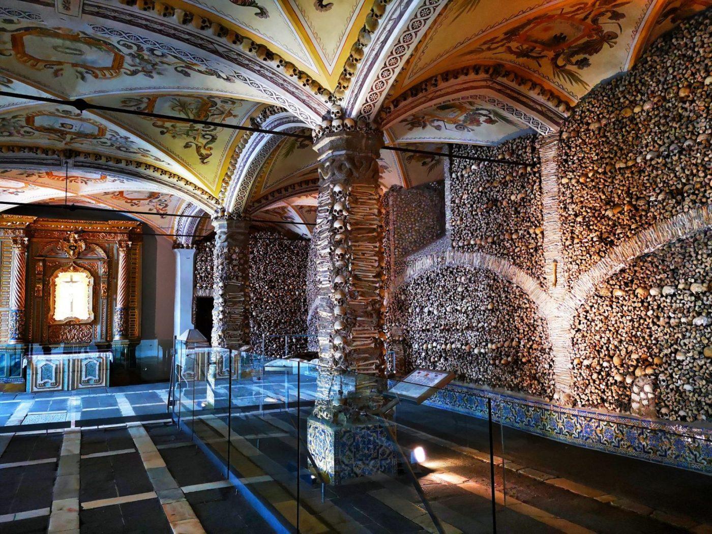 A Capela dos Ossos: The Chapel of Bones, Evora Portugal