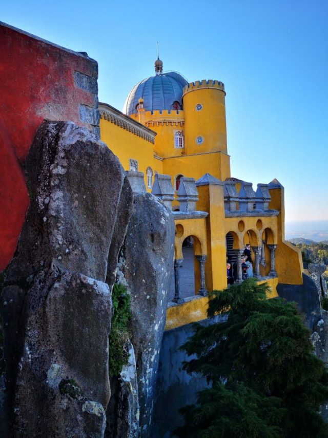 Natural Stone forms part of the Pena Palace Walls