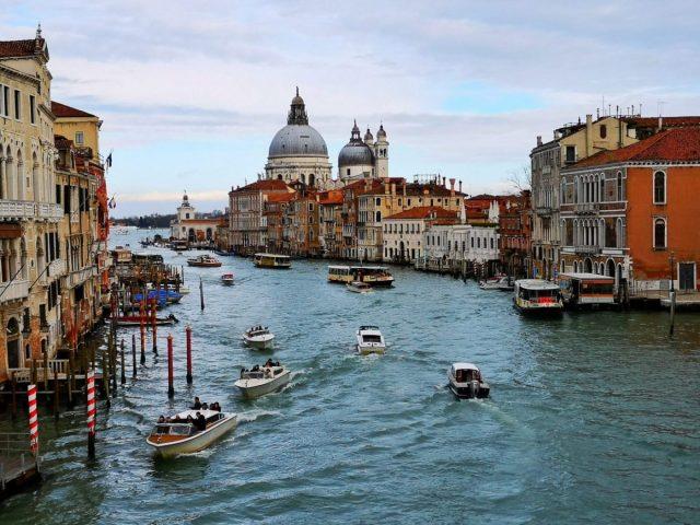 Basilica di Santa Maria della Salute from the Ponte dell'Accademia - Where to Stay in Venice on a Budget