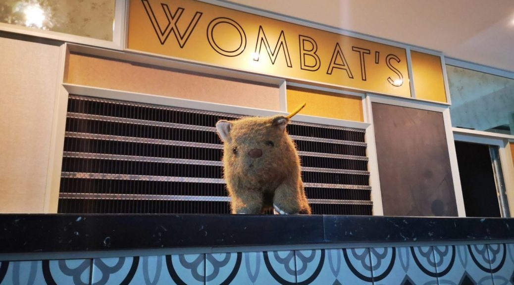 Wagner Wombat on the new reception desk