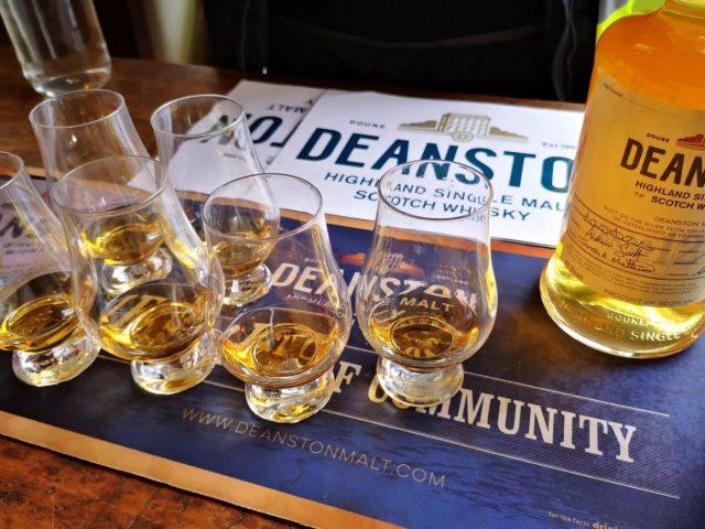 Distillery Tour & Whisky Tasting - whisky glasses and bottle from Deanston Distillery