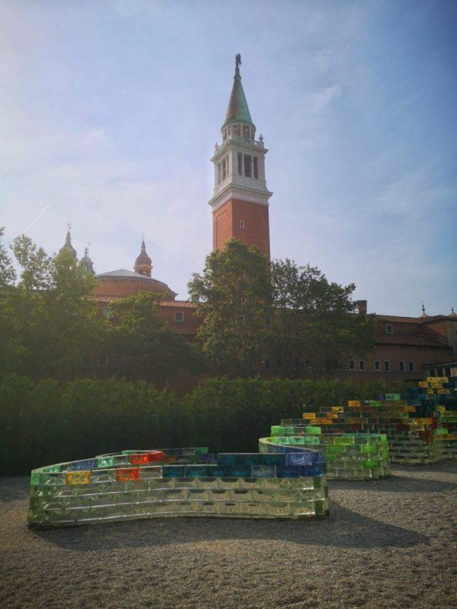 The Glass Exhibition behind San Giorgio Maggiore Church