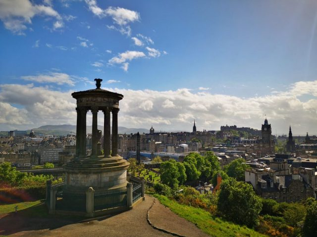 The View from Calton Hill in Edinburgh