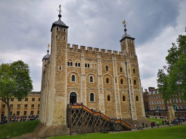 The White Tower in the Tower of London - Staying in wombat's Hostel near the Tower of London